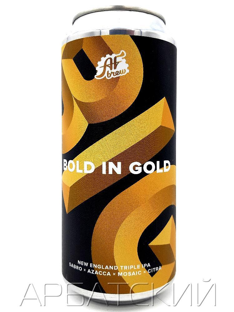 АФ Брю Болд ин Голд / AF Brew Bold In Gold 0,5л. алк.10% ж/б.