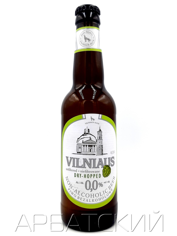 Вильнюс двойной хмель б/а / Vilniaus Apyniuotas nealkoholinis 0,33л. б/а
