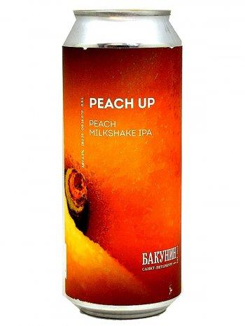 Бакунин милкшейк ипа / Bakunin Peach Up 0,5л. алк.6,5% ж/б.