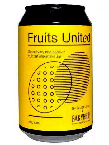 Бакунин милкшейк ипа 6 / Bakunin Fruits United 0,33л. алк.5% ж/б.
