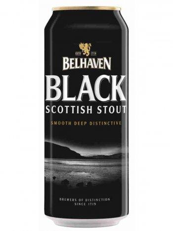 Белхеван Блэк Скоттиш Стаут / Belhaven Black Scottish Stout 0,44л. алк.4,2% ж/б.