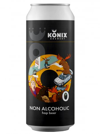 Коникс Лось, Просто Лось б/а / Konix Moose, Just Moose 0,5л. ж/б.